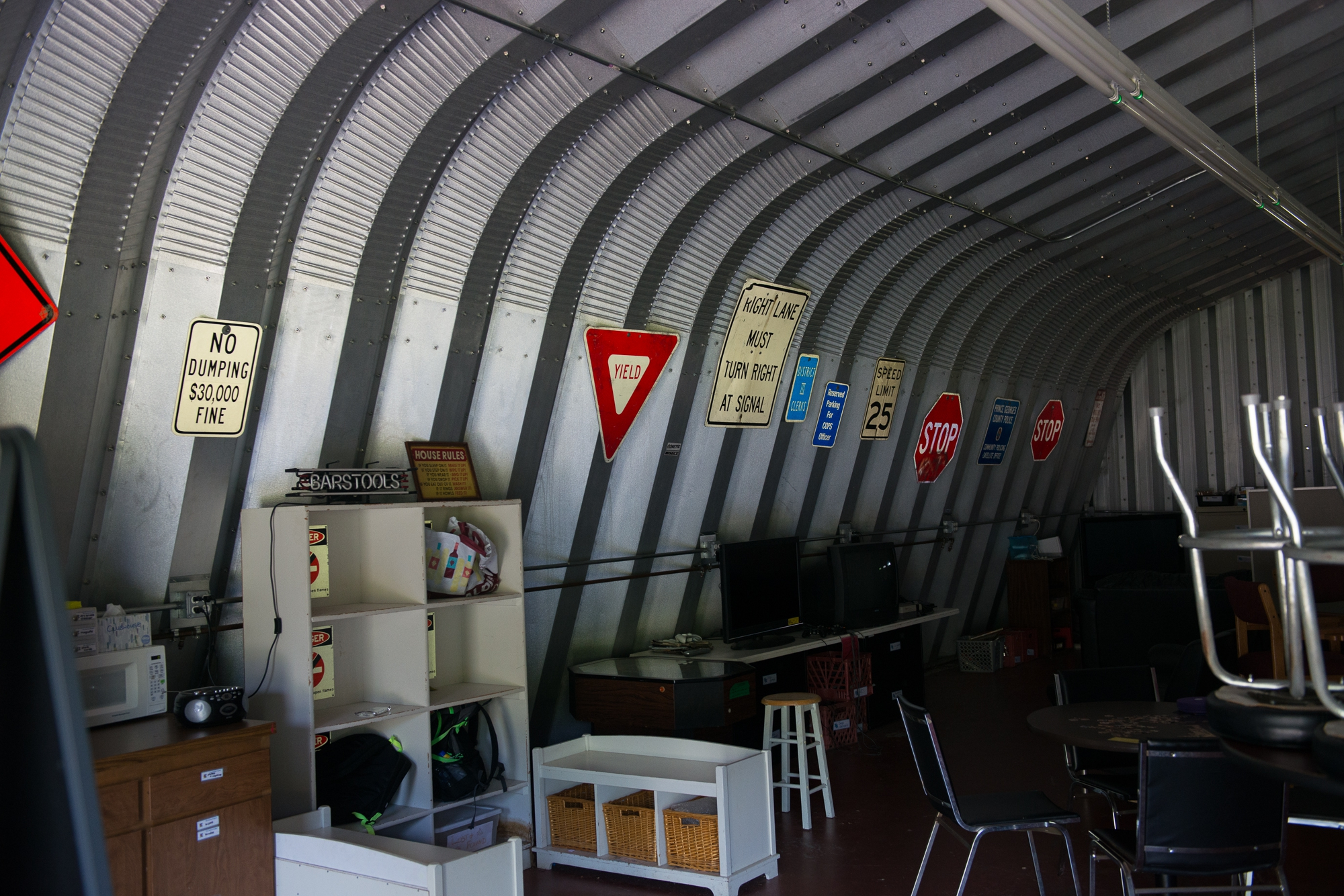 <p>Inside the clubhouse</p>